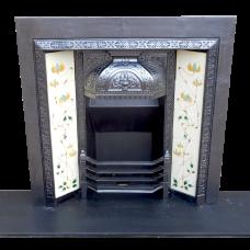 "INS277 - Ornate Victorian Fireplace Insert (38""H x 38""W)"