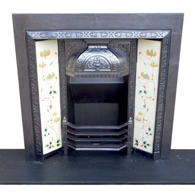 "INS277 - Ornate Victorian Fireplace Insert (38""H x 38""W)"