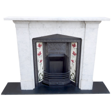 "MS011 - Gothic Arched Marble Fireplace Surround (47.5""H x 49.75""W)"