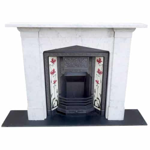 Gothic Arched Marble Fireplace Surround