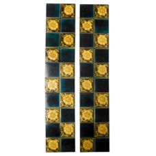OT234 - Blue & Yellow Floral Fireplace Tiles