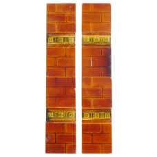 OT240 - Original Edwardian Brick Fireplace Tiles