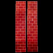 OT241 - Edwardian Burgundy Red Brick Fireplace Tiles