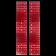 OT244 - Edwardian Small Red Brick Fireplace Tiles