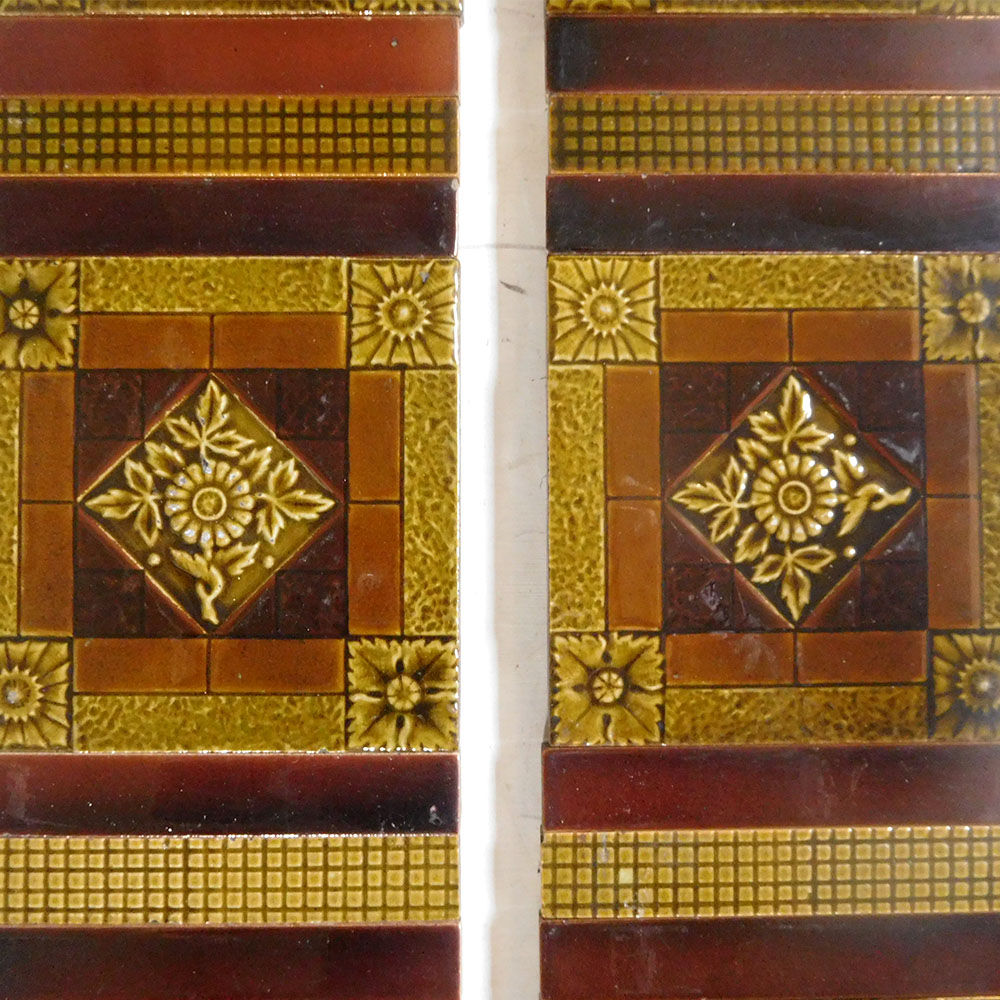 gold amber victorian fireplace tiles buy from vfs. Black Bedroom Furniture Sets. Home Design Ideas