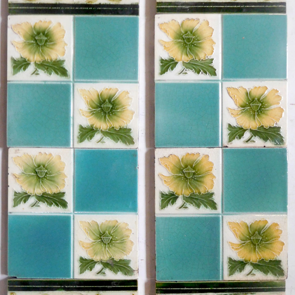 Art Nouveau Antique Fireplace Tiles Buy From Vfs