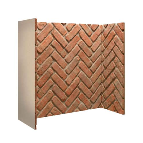Rustic Herringbone Brick Chamber