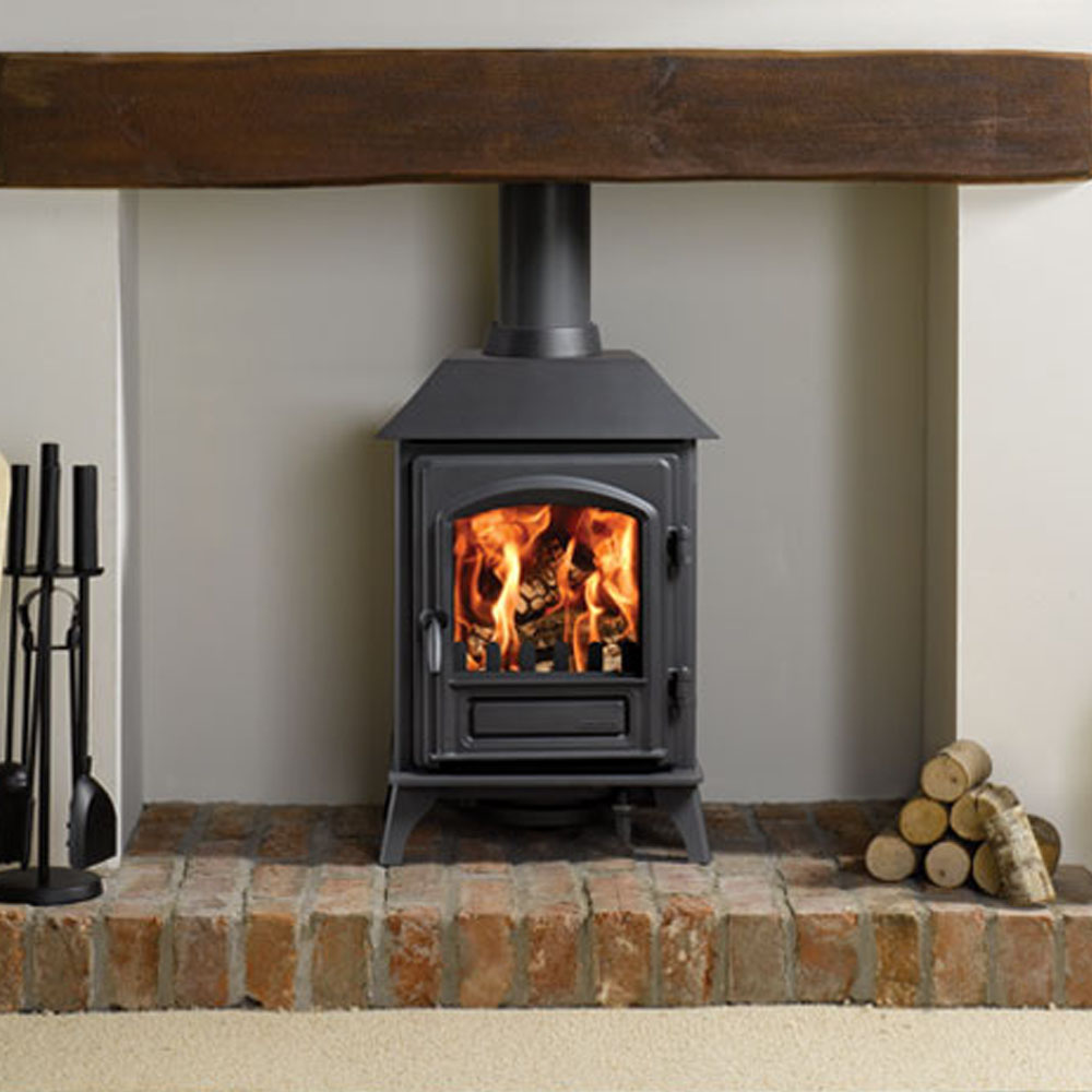 Riva plus small stove 2 7kw victorian fireplace store for Small efficient wood stoves