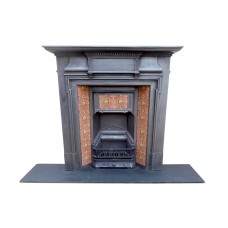 "COMBI295 - Cast Iron Combination Fireplace With Tiled Canopy (48.75""H x 47""W)"