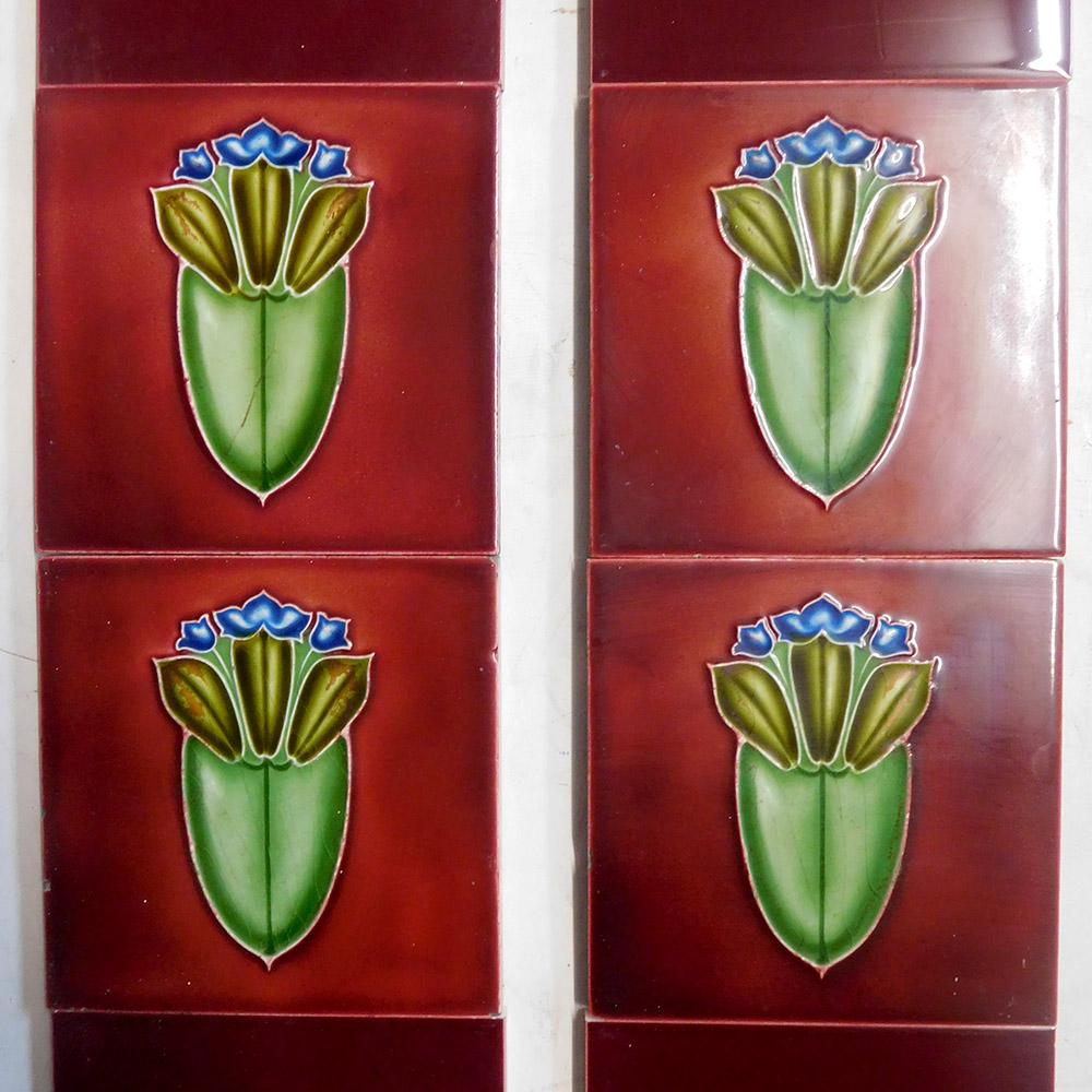 art nouveau antique fireplace tiles buy from vfs