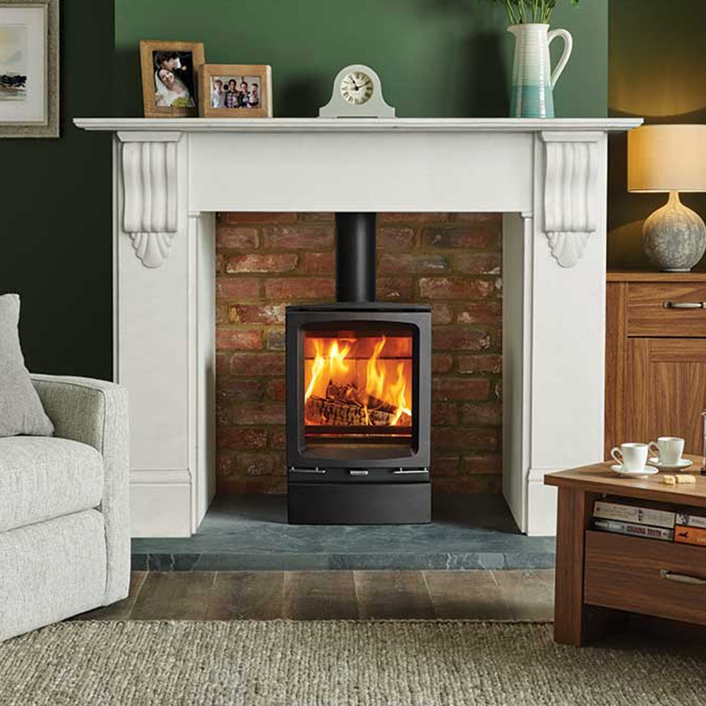 Vogue Midi Wood Burning Stove From Victorian Fireplace Store