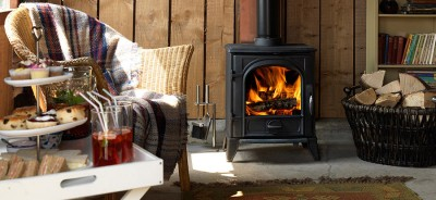 wood-burning stove to cut heating bills