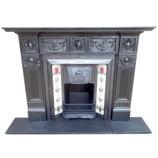 CS056 - Original Cast Iron Fireplace Surround (50.25″H x 58″W)