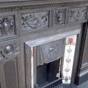 CS056 - Original Cast Iron Fireplace Surround (50.25″H x 58″W)