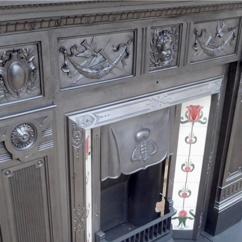 Original Cast Iron Fireplace Surround