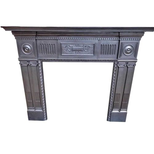 Antique Cast Iron Fireplace Surround