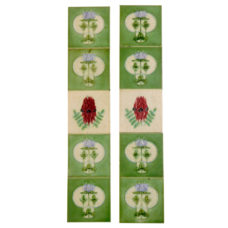 OT255 - Original Floral Fireplace Tile Set