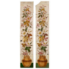 OT259 - Original Floral Urn Fireplace Tile Set