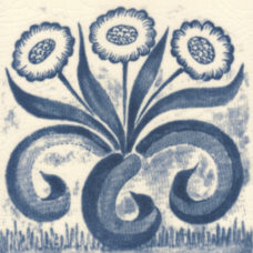 William Morris Blue Findon Daisy Fireplace Tile (ST050)