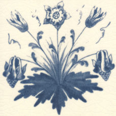 William Morris Blue Columbine Fireplace Tile (ST051)