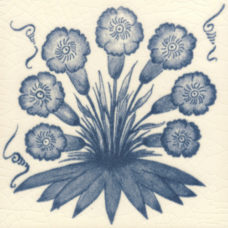 William Morris Blue Primrose Fireplace Tile (ST052)