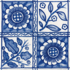 William Morris Dutch Delft Longden Fireplace Tile (ST054)