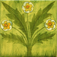 William Morris Green Buttercup Fireplace Tile (ST055)