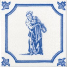 Woman At Work Character Fireplace Tile (ST068)