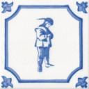 Contemplative Man Character Fireplace Tile (ST074)
