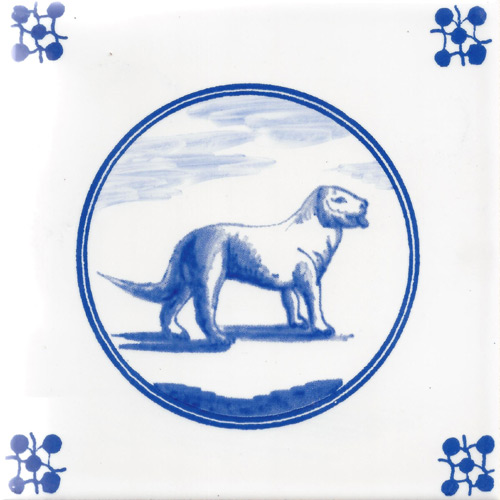 Dog Fireplace Tile