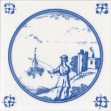 Fisherman Fireplace Tile (ST095)