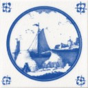Countryside Ship Fireplace Tile (ST106)