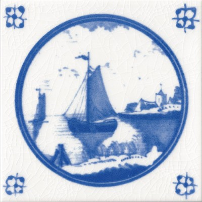 Countryside Ship Fireplace Tile