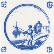 Fishing Man Fireplace Tile (ST108)