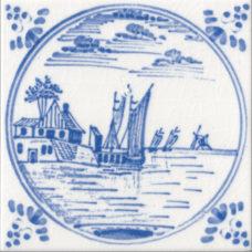 Dutch Delft Water Design Fireplace Tile (ST135)