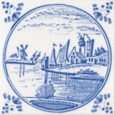 Dutch Delft Water Design Fireplace Tile (ST136)