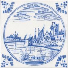 Dutch Delft Water Design Fireplace Tile (ST137)