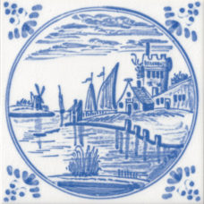 Dutch Delft Water Design Tile (ST141)