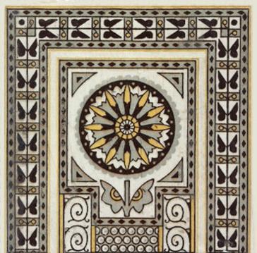 Christopher Dresser Butterfly Tile