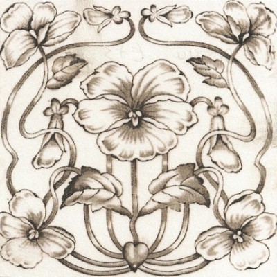 1895 Printed & Tinted Tile (ST160)