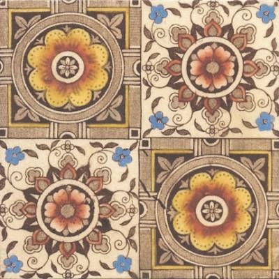 1888 Victorian Floral Tile (ST162)