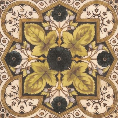 1890 Victorian Floral Tile