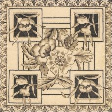 1890 Victorian Printed & Tinted Tile (ST169)
