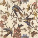 1885 Floral Bird Tile (ST183)