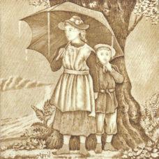 Josiah Wedgwood April Season Tile (ST191)