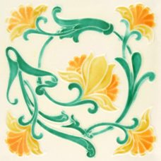 Embossed Tube Lined Victorian Tile - 7 Colours (ST204)