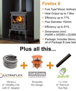 Gallery Firefox 8 Cleanburn Stove Package Deal (8.5kW)