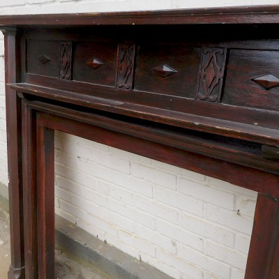 Antique Fireplace Oak Surround