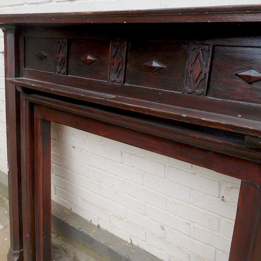 Antique Fireplace Oak Surround From Victorian Fireplace Store