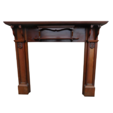 "TS075 - Victorian Mahogany Fireplace Surround (52.5""H x 59.5""W)"